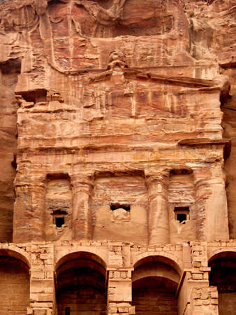 Urn Tomb in the Lost rock city of Jordan  Petra Stock Photo - 16372200