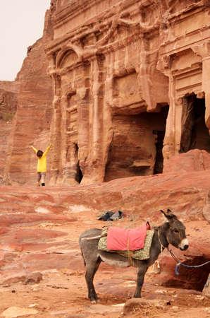 Royal Tomb in the lost rock city of Petra, Jordan  Petra Stock Photo - 16372230