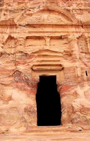 Royal Tomb in the lost rock city of Petra, Jordan  Petra Stock Photo - 16372233
