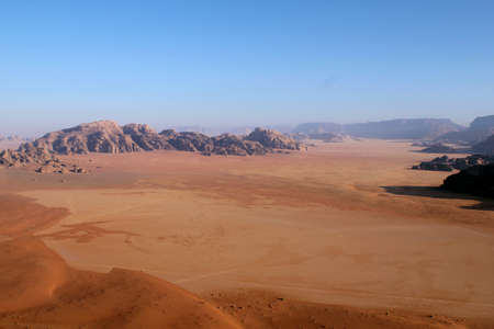 Wadi Rum Desert beautiful landscape from above  Jordan