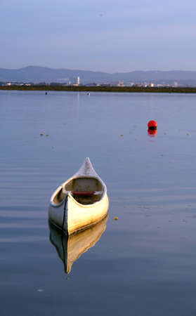 ria: View of Ria Formosa, natural conservation region in Algarve, Portugal.       Stock Photo