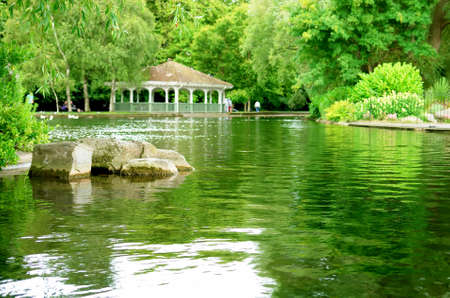 St Stephen green park in Dublin  Ireland
