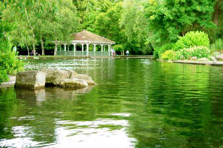 eire: St Stephen green park in Dublin  Ireland