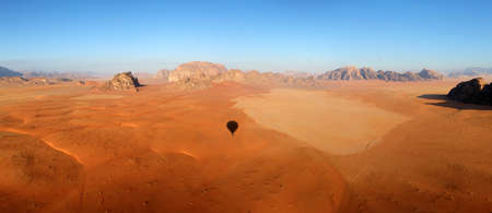 Wadi Rum Desert beautiful landscape from above  Jordan  photo