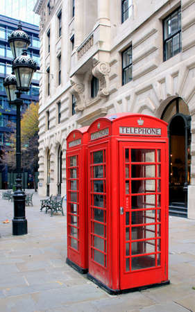 London famous public telephone booth  United Kingdom photo