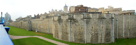 The Tower of London, ancient city center, medieval castle and prison  London, UK