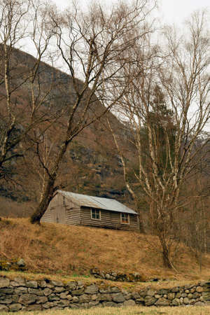 Norway tipical rural hut and lanscape Stock Photo - 16634907