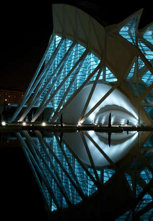 postmodern: City of arts and science  Valencia, Spain  Project by Santiago Calatrava