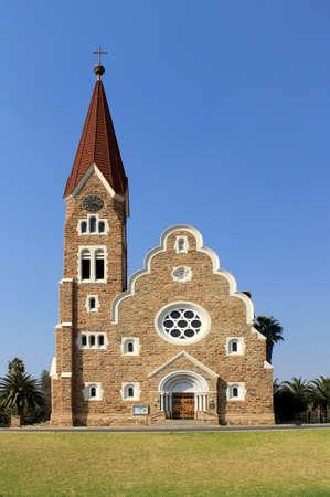 Christuskirche, famosa iglesia luterana hito en Windhoek, Namibia