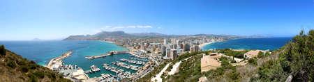 Panoramic view over Calp  Spain   Town bay beach photo
