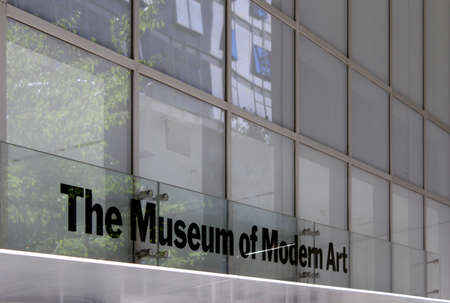 MoMA Museum of Modern Art, Facade  New York City  The building is design by famous Japanese architect Yoshio Taniguchi and MoMA collection has grown to include over 150,000 art pieces and design objects  It is the most influential museum of modern art in