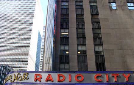 NEW YORK CITY - SEPTEMBER 04  Radio City Music Hall, located in Rockefeller Center Manhattan, its interior was declared a city landmark in 1978  September 04, 2013 in Manhattan, New York City