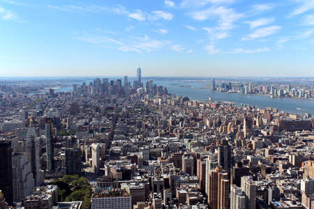 New York City Lower Manhattan Aerial panoramic view, NYC photo