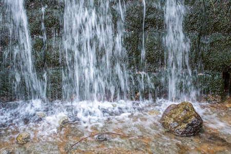 therapeutic: Monchique village famous therapeutic pure fresh mountain water stream. Algarve. Portugal. Stock Photo