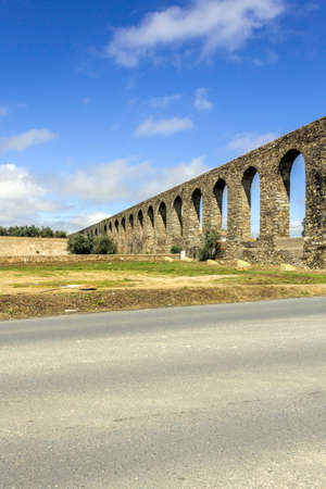 gua: �gua de Prata Aqueduct (Aqueduct of Silver Water) in �vora, Portugal. Its huge arches stretching for 9 kilometres (6 miles), this aqueduct was built in 1531�1537 by King Jo�o III to supply the city with water.