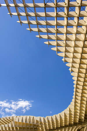 metropol parasol: SEVILLE SPAIN  MAY 2014: Texture graphic detail of Metropol Parasol in Plaza de la Encarnacion on 31 of May 2014 in SevillaSpain. A new Seville Market Hall and attractive destination. Projected by J. Mayer H. architects.