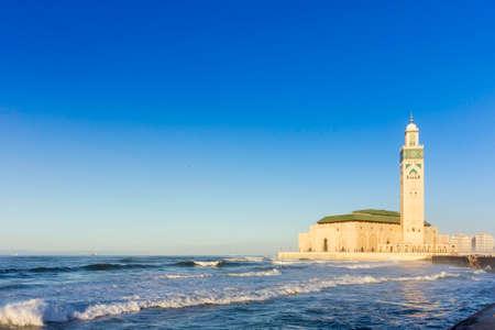 グランデ Mosquàの海岸沿いに表示 © e カサブランカ, モロッコのハッサン 2 世
