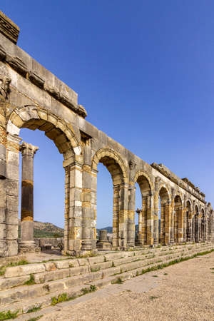 archaeological: Archaeological Site of Volubilis, ancient Roman empire city, located in Morocco near Meknes