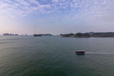 Monkey island sea scenario Lan Ha bay, landmark destination, Cat Ba islands (South of Halong bay), Vietnam.