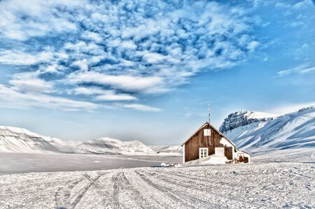the cabin of the arctic Stock Photo
