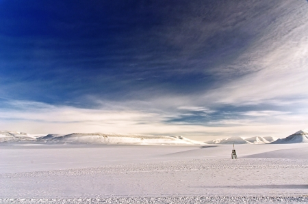 Winter landscape in the pole in Svalbard s island in the Norwegian Arctic