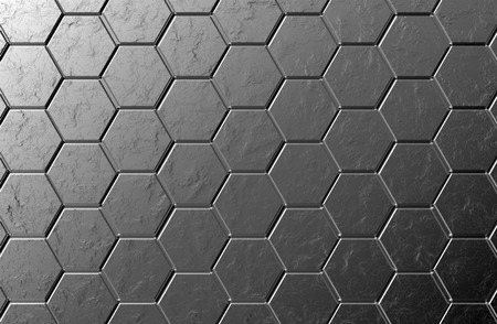 Hexagons black screen background texture with marble photo