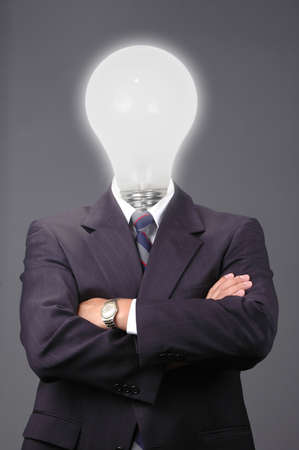 Business metaphor showing the importance of great ideas Stock Photo - 519030