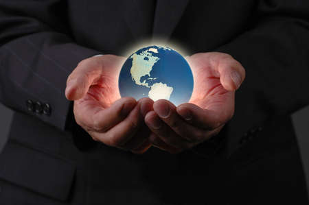 Our planet earth is in our hands Stock Photo