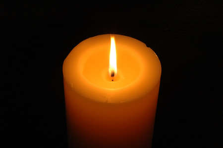 Candle with dark background