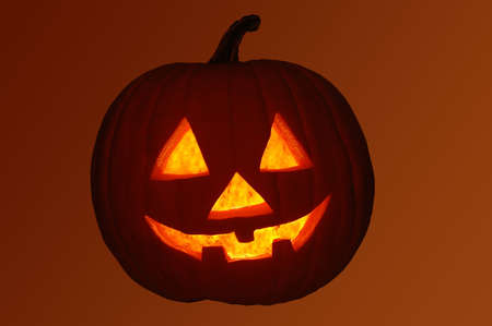 Jack-O-Lantern Pumpkin with clipping path (isolated) photo