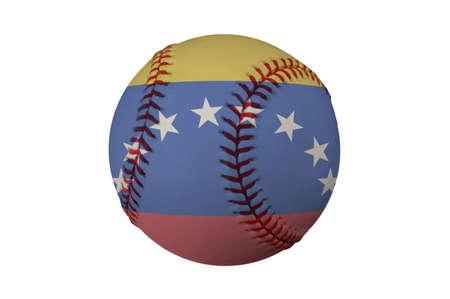 베네수엘라 (클리핑 경로)의 국기와 함께 야구