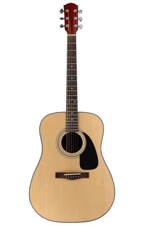 serenata: Guitarra ac�stica con la saturaci�n camino sobre un fondo blanco