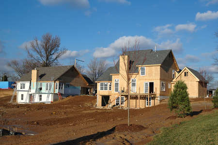 2x4: Homes construction on a sunny day