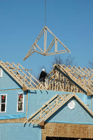 House under construction with blue sky Stock Photo - 1124996