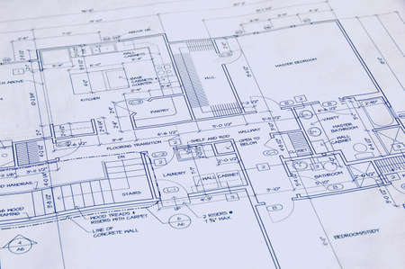 architect drawing: Blueprint of a house