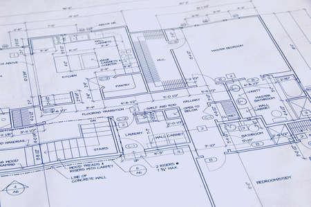 Blueprint of a house photo