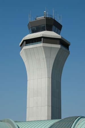 Air traffic control tower against blue sky Stock Photo - 1125049