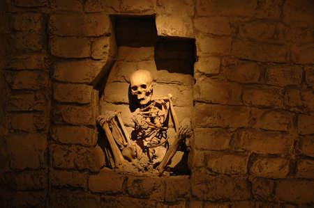 mummified: Mummy from ancient peruvian culture Stock Photo