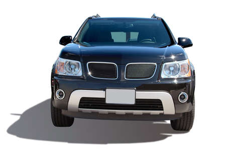 Modern SUV isolated on a white background Stock Photo