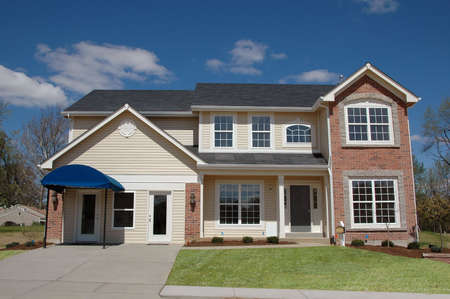 House just built for sale with blue sky Stock Photo - 1125126