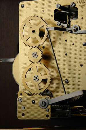 mechanism of old watch showing  gears