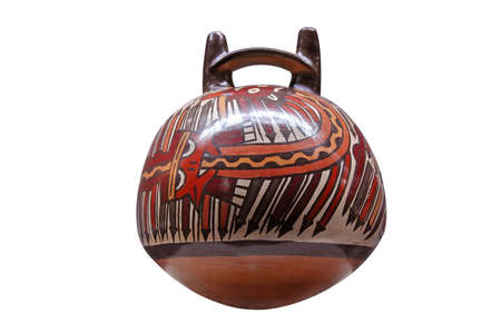 indian artifacts: Peruvian pre inca ceramic Stock Photo