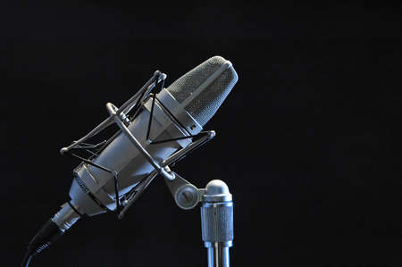 profesional: Profesional microphone isolated on black