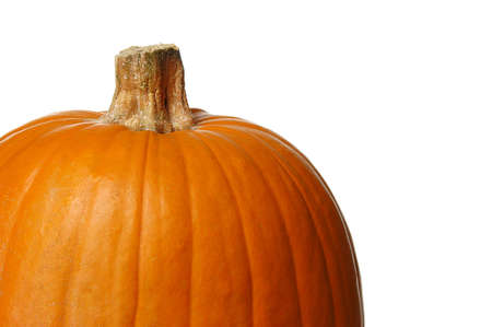 Pumpkin close up isolated on a white background Stock Photo - 7772790