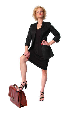 Boss Businesswoman with attitude isolated on white photo
