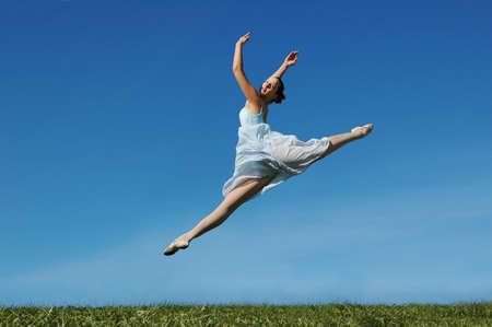 Jumping ballerina on a sunny day Stock Photo - 7774171