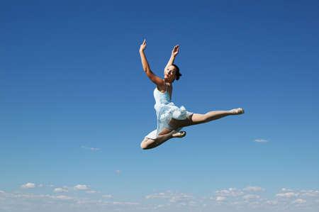 Jumping ballerina on a sunny day Stock Photo - 7766032
