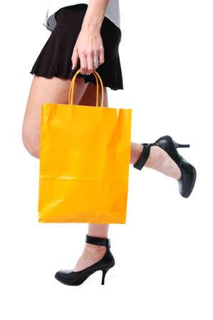 Shopper low view wearing high heels Stock Photo - 7774155