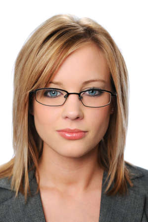 Young businesswomans portrait with glasses photo
