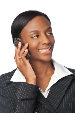 Young African American Businesswoman on the cell phone Stock Photo - 7796491